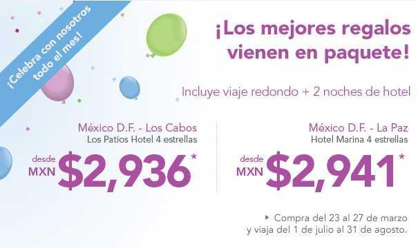 Volaris: paquete del DF a Los Cabos o La Paz con dos noches de hotel desde $2,936