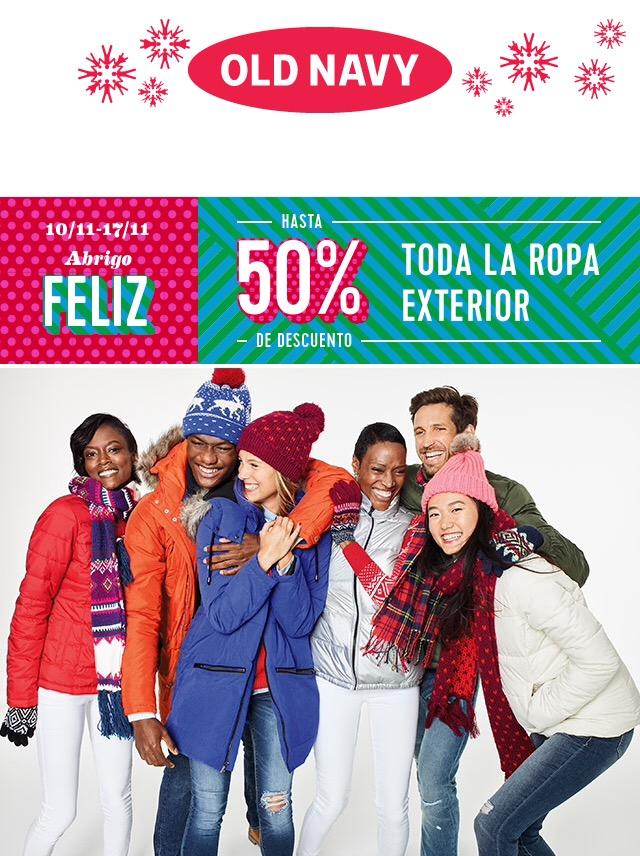 OldNavy: 50% en ropa exterior