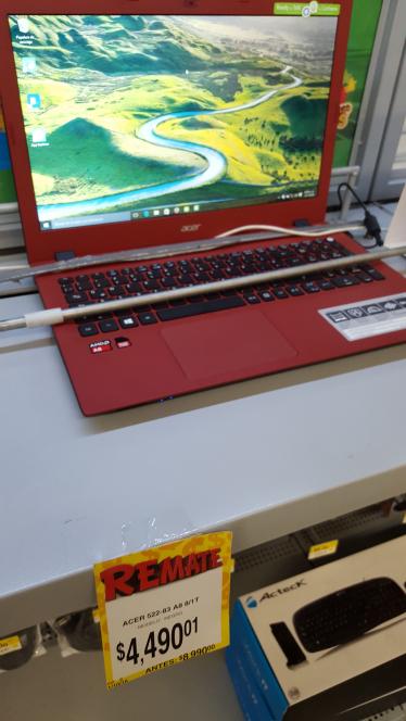 Bodega Aurrerá Aztecas: laptop E5-522-83hb a $4,490.01