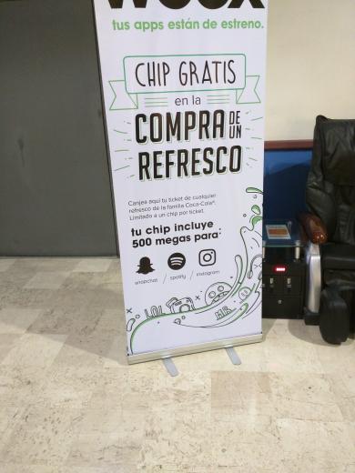 Cinépolis: Chip weex gratis en la compra de un refresco