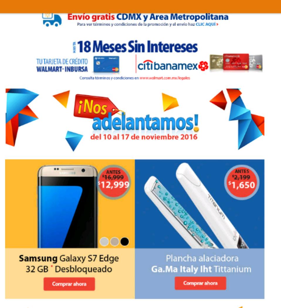 Walmart: Samsung S7 Edge a $12,999