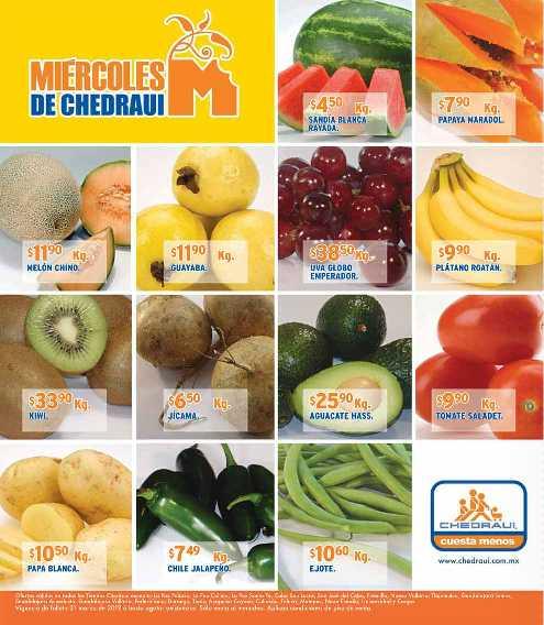 Miércoles de frutas y verduras Chedraui marzo 21: manzana $15.90 Kg, pera $15.90 Kg y más