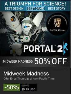 Steam: Portal 2 para PC a $9.99 US