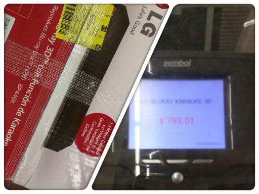 Walmart Ciudadela, Gdl, Jalisco: Blu-ray LG 3D a $795.01