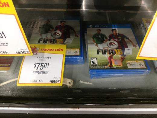Walmart Gran Patio Poza Rica: Fifa 2015 para PS4 a $75.01