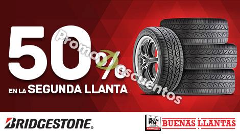 Promociones del Buen Fin 2016 en Bridgestone: 50% en la segunda llanta ó 4x3 + hasta $1,200 en monedero
