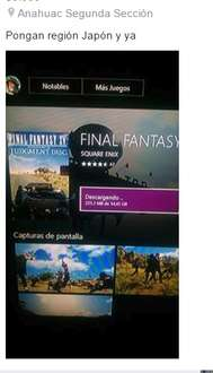 Demo Final Fantasy XV Xbox One ya disponible tambien para ps4