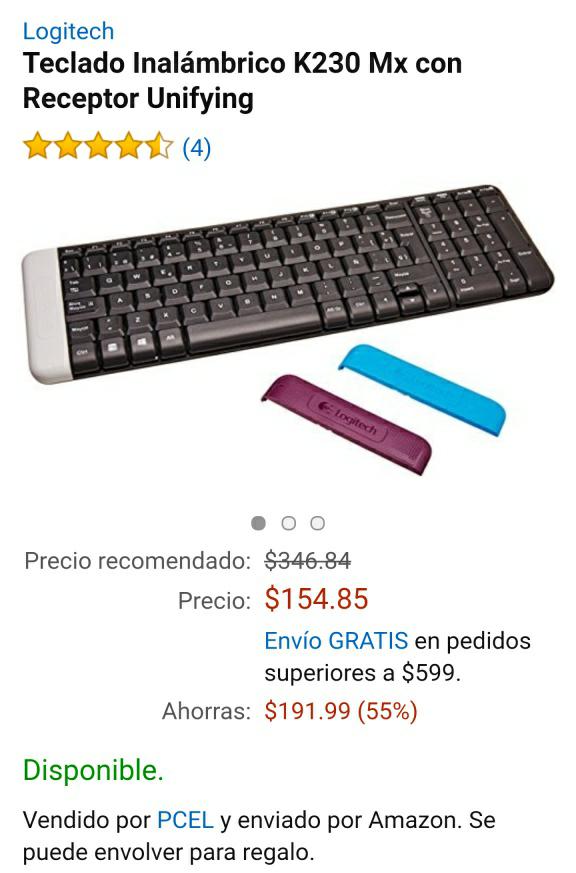 Amazon México: Logitech K230 MxTeclado inalámbrico
