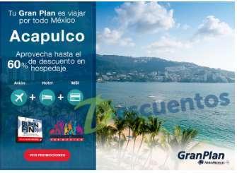 El Buen Fin 2016 en Aeroméxico: paquetes Gran Plan