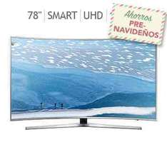 "Costco: pantalla Samsung curva 78"" Smart TV Ultra HD 120MR UN78KU6500"