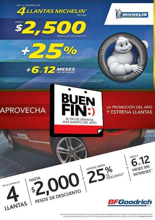 El Buen Fin 2016 en llantas Michelin y BFGoodrich