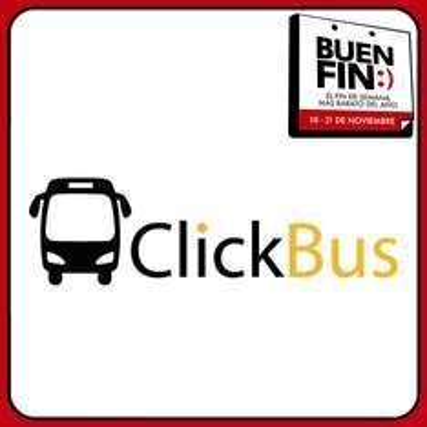El Buen Fin 2016 en ClickBus: cupón de 20% de descuento