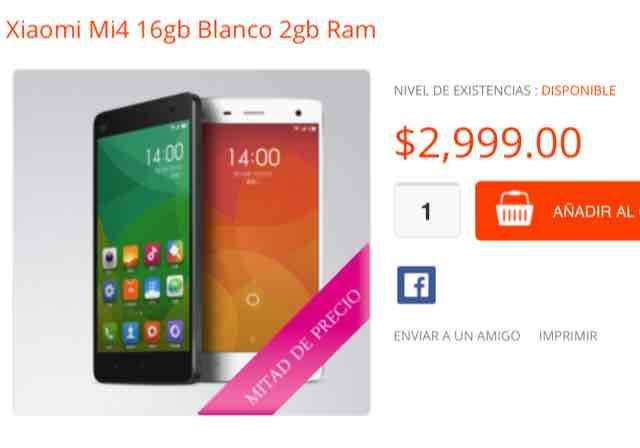 Tienda Xiaomi: Xiaomi MI4 (Tienda no oficial)