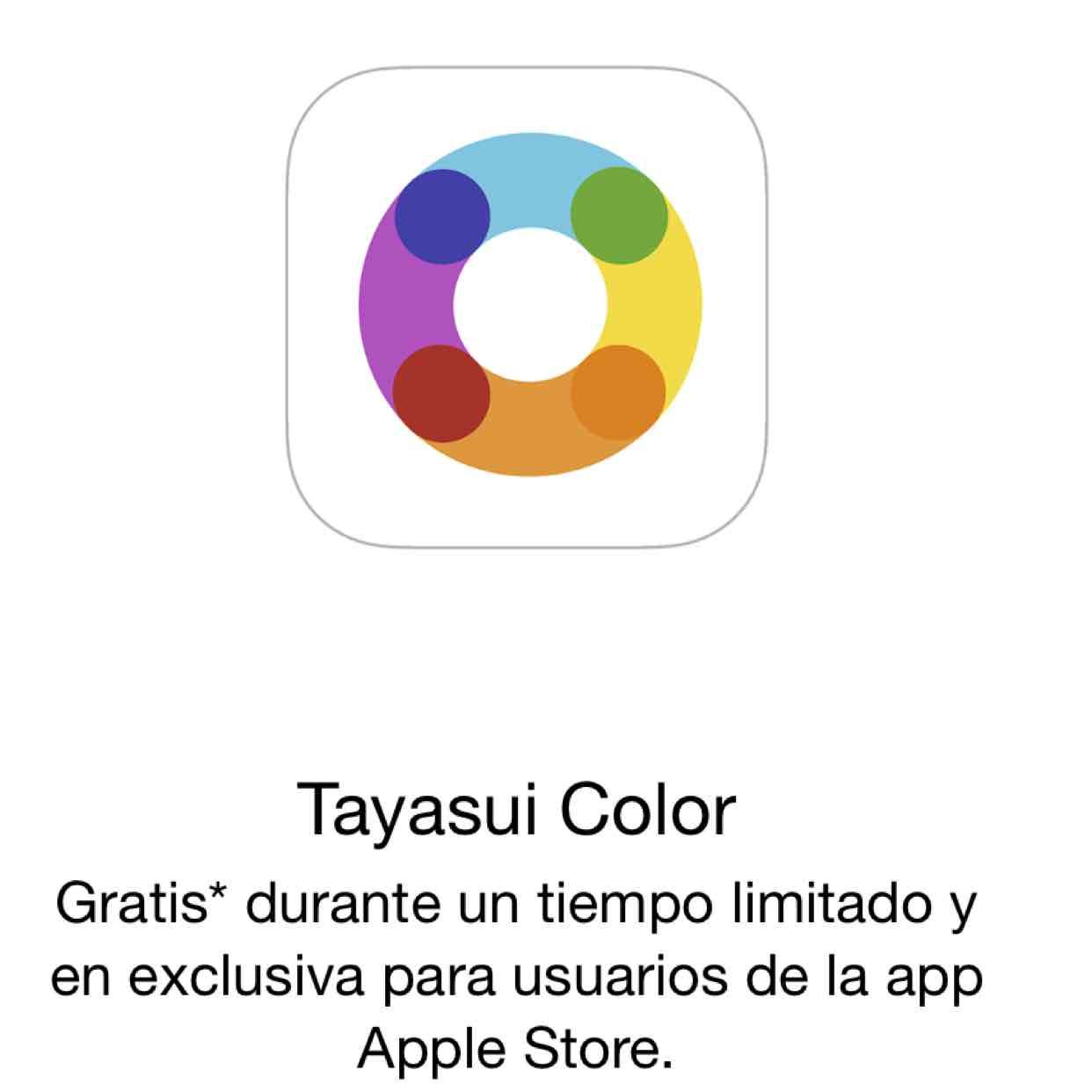 App Store: Tayasui Color gratis