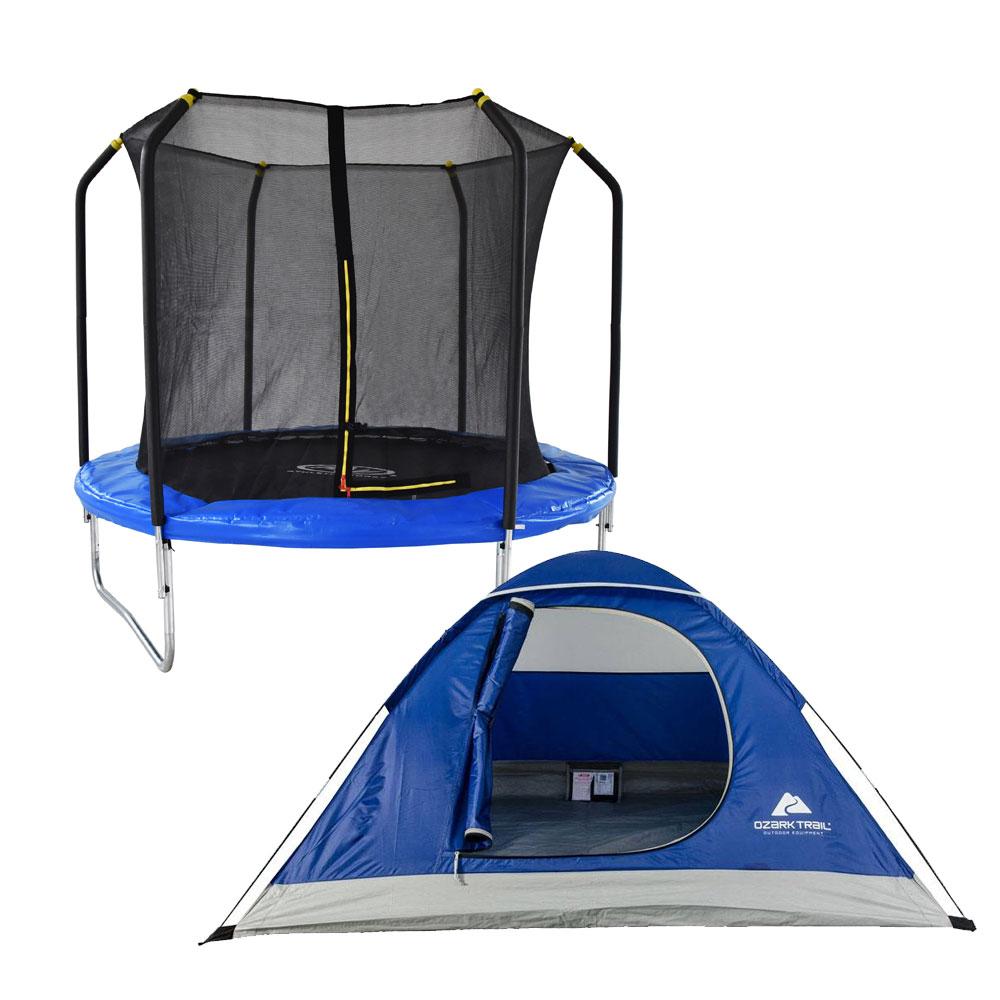 Walmart: paquete de trampolín de 8 pies más Tienda de Campaña Ozark Trail para 2 Personas