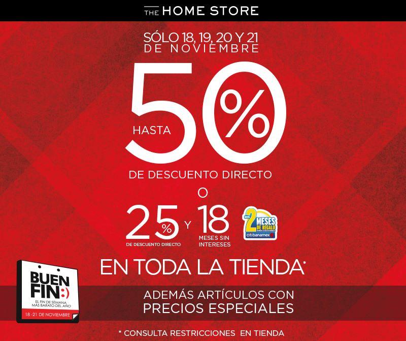 El Buen Fin 2016 en tiendas The Home Store y Avon