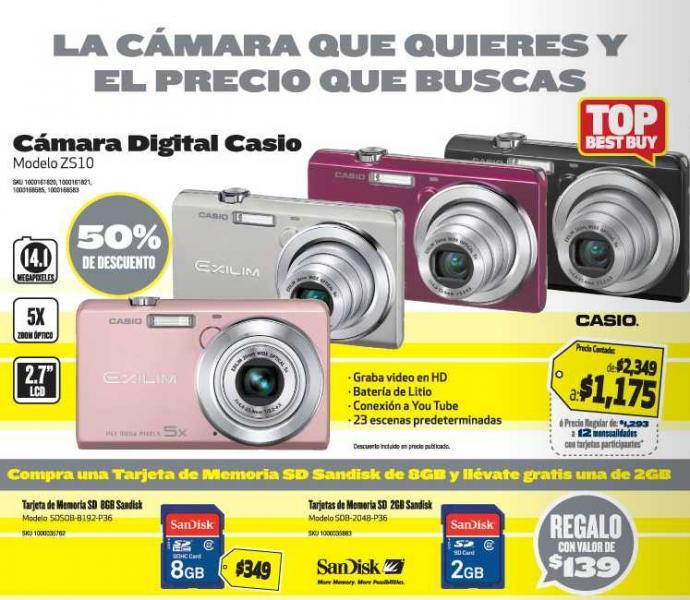 """Folleto Best Buy marzo 15: todas las pantallas LCD 32"""" a $4,995, 50% descuento en cámara Casio, Walkman y más"""