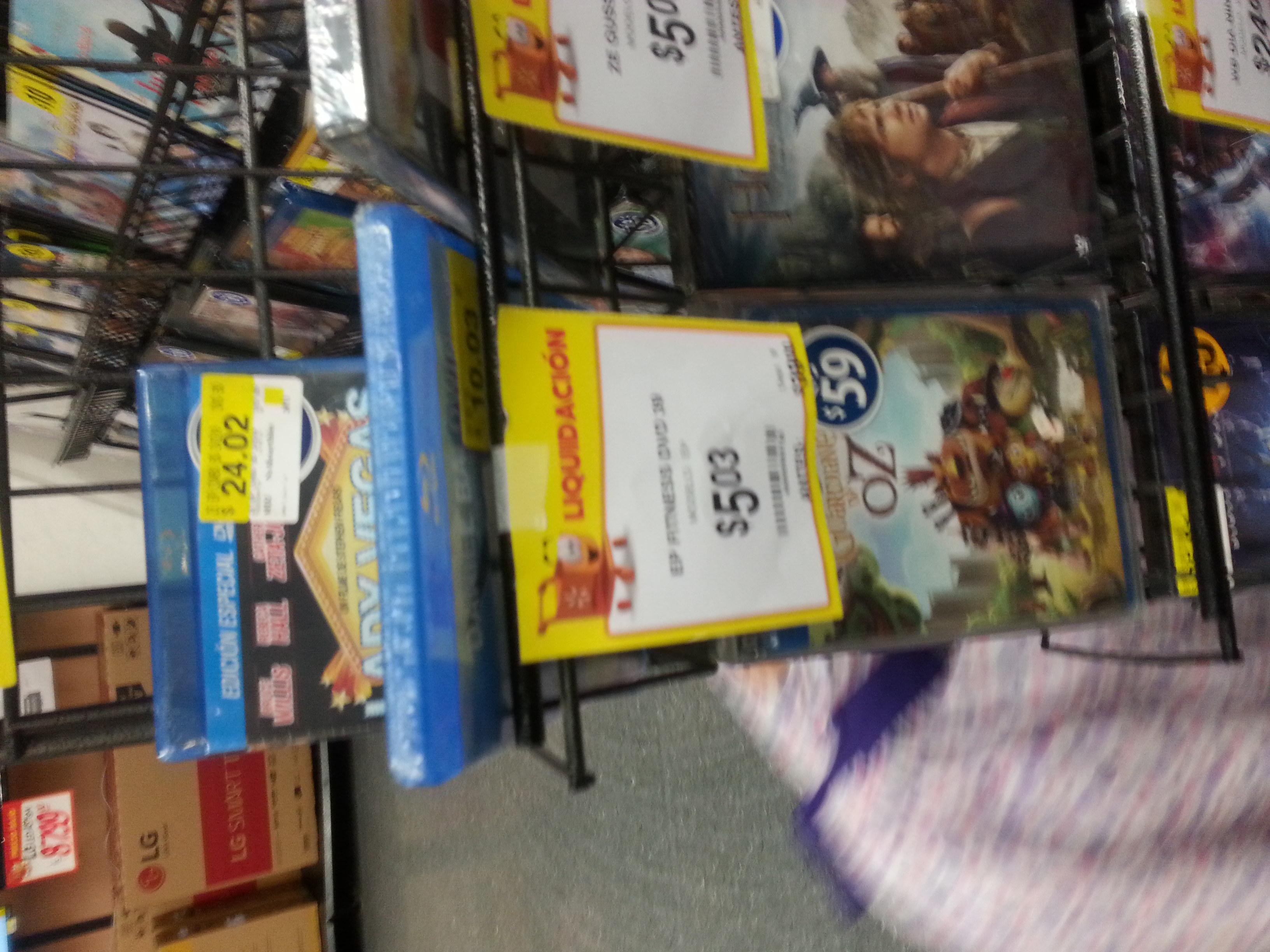Walmart México 68 Culiacán: Peliculas DVD a $5.03