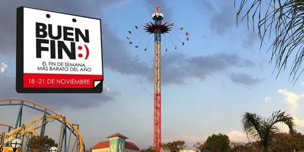 Promoción El Buen Fin 2016 en Six Flags: 65% de descuento en pase anual Gold