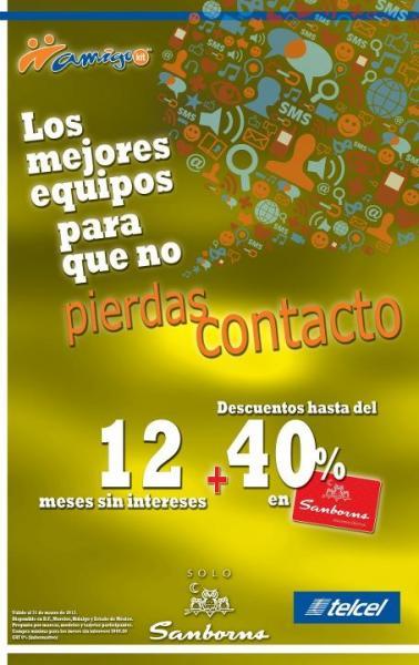 Sanborns: 12 MSI y hasta 40% de descuento en equipos Telcel