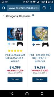 Best Buy: consola PS4 Slim 500GB + contro extra a $6,399