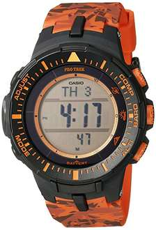 Amazon: Reloj deportivo Casio PRG-300CM-4 color negro / naranja