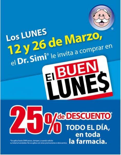 Farmacias Similares: 25% de descuento los lunes 12 y 26 de marzo
