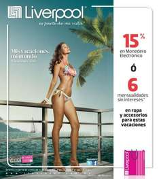 Lvierpool: 15% en modenedero o 6 MSI en ropa y accesorios para vacaciones