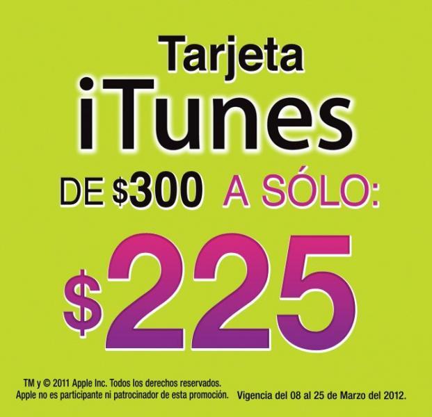 7 Eleven: tarjeta iTunes de $300 a $225