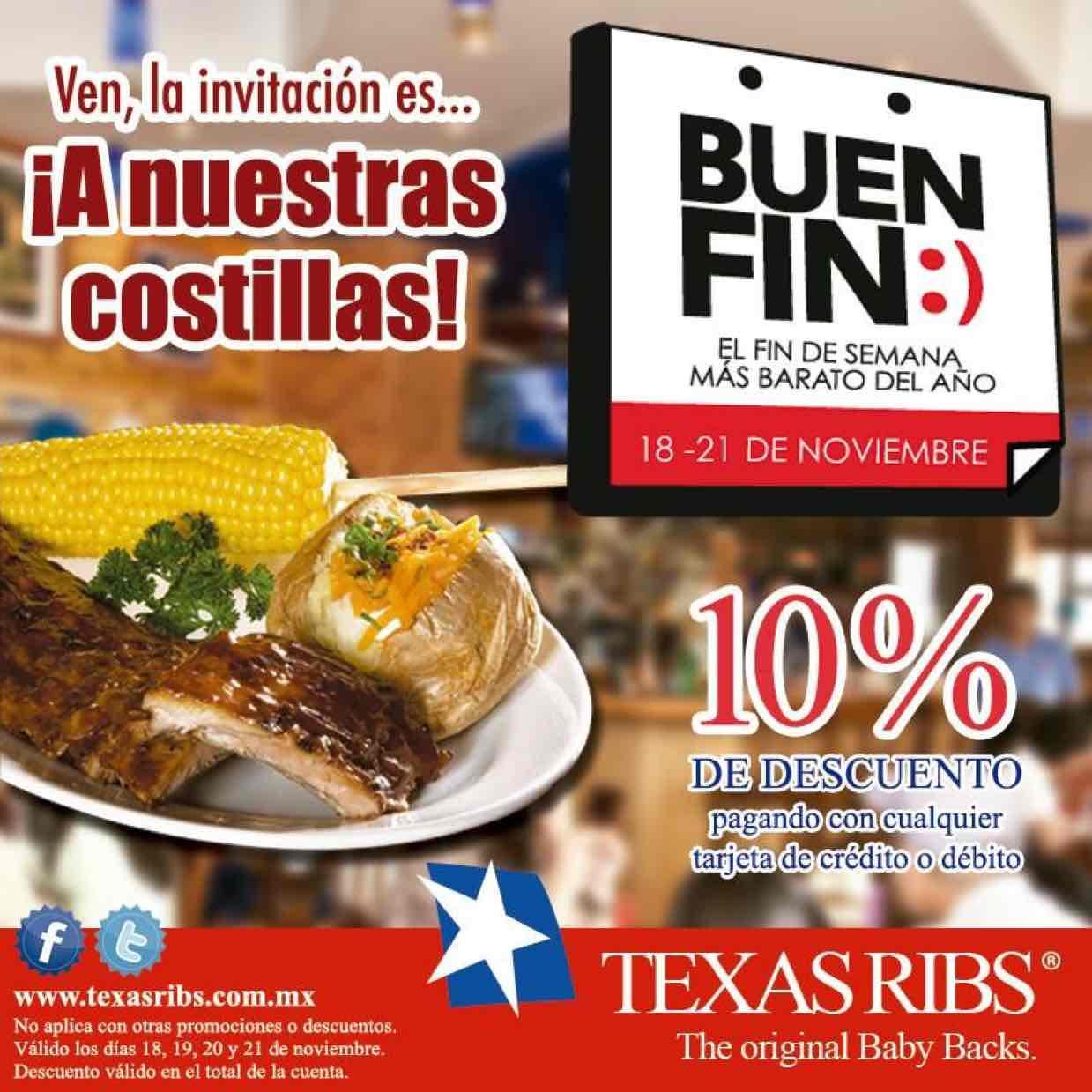 Promociones del Buen Fin 2016: Texas Ribs
