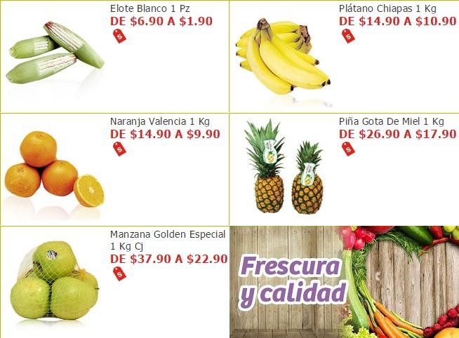 Soriana Híper y Súper: Miércoles 16 Noviembre: Elote $1.90 pza; Plátano $10.90 kg; Naranja $9.90 kg; Piña Gota de Miel $17.90 kg; Manzana Golden $22.90 kg.