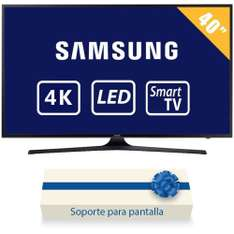 "Walmart: TV Samsung 40"" 4K Ultra HD Smart TV LED mas Soporte de pared"
