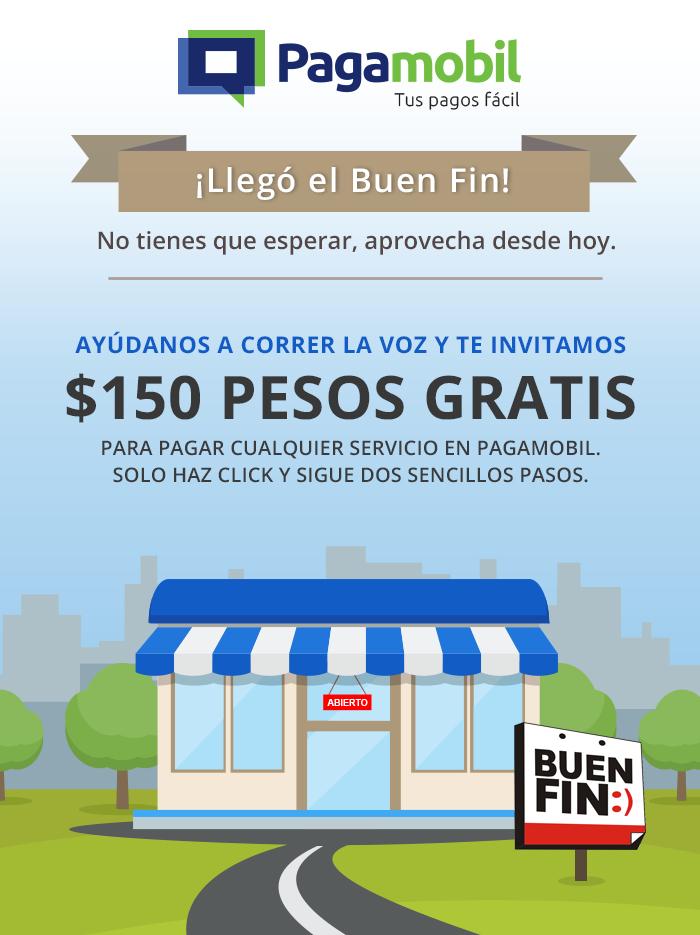 El Buen Fin 2016 en Pagamobil: $150 de descuento en pago de servicios