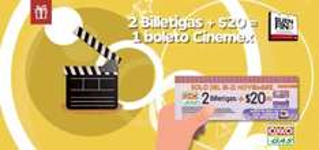 Buen Fin 2016 Oxxo Gas: Boletos para Cinemex a $20