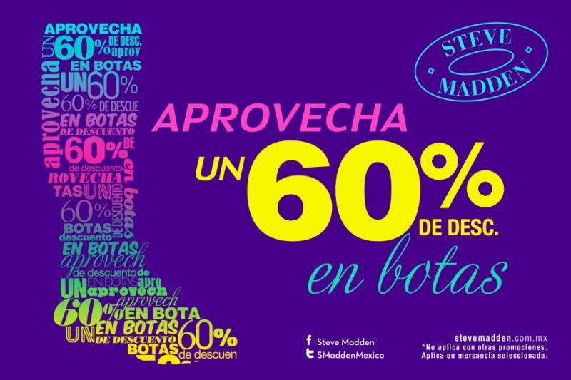 Steve Madden: 60% de descuento en botas