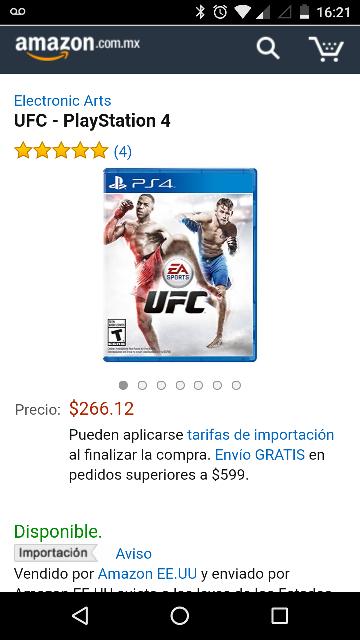 Amazon: UFC PS4