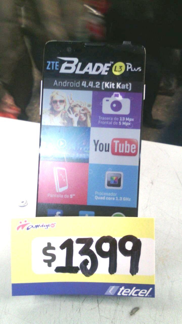 Modulo Telcel Metro Zocalo: Zte L3Plus Regular $2,100