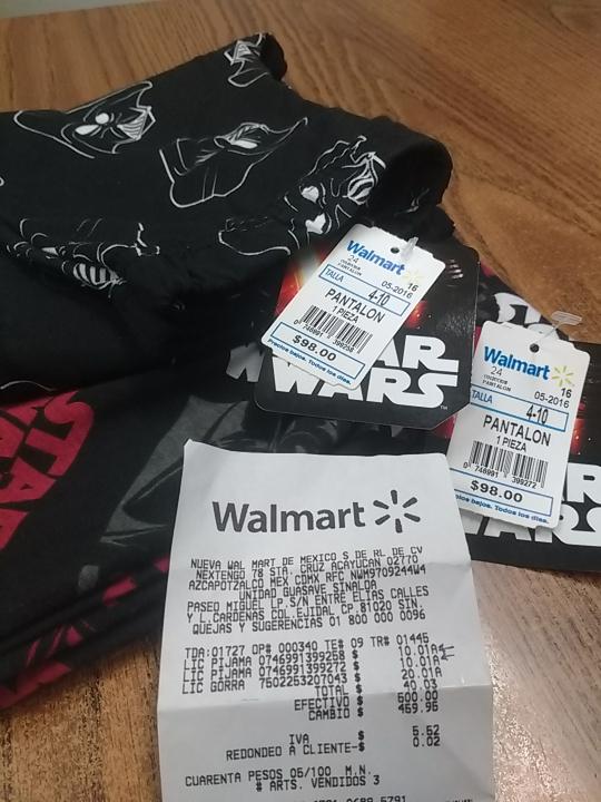 Walmart Guasave Sinaloa: Pijamas para niño en $10.01 pesos