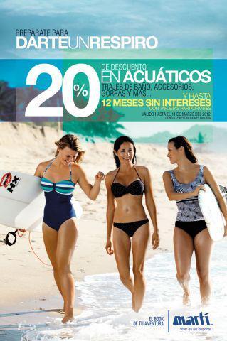 Martí: 20% de descuento en trajes de baño, bicicletas y más