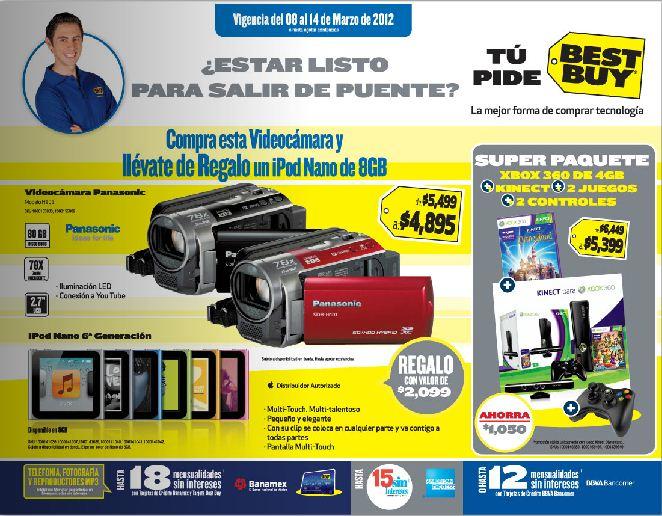 Best Buy: gratis Samsung Galaxy SII en Más x Menos, iPod Nano gratis con videocámara, disco duro con computadora y más