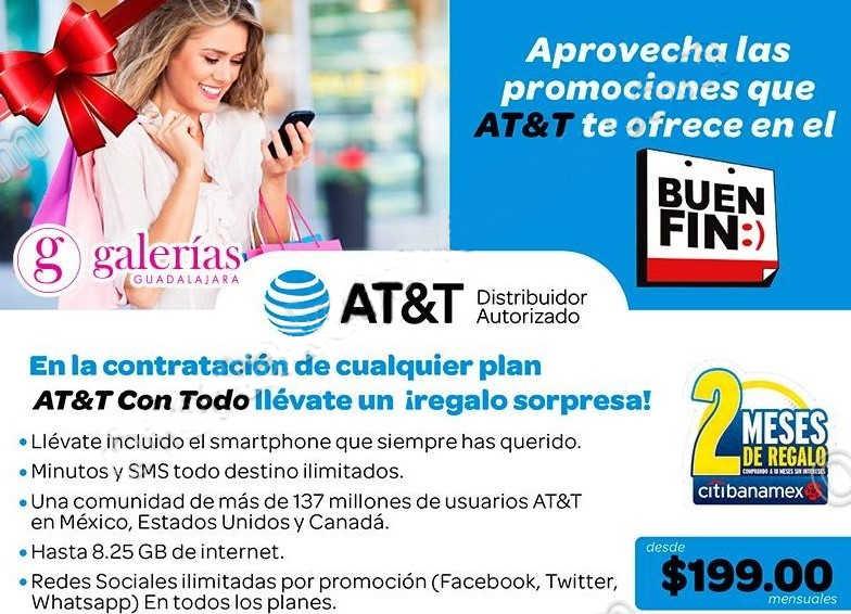 El Buen Fin 2016 en AT&T: bonificación y regalo sorpresa al contratar un plan