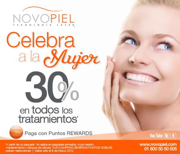 Novopiel: 30% de descuento en tratamientos a partir de un paquete