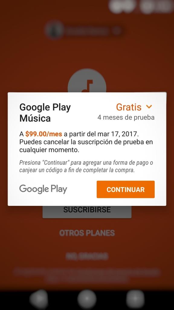 Google Play Music: 4 meses gratis de su servicio premium.