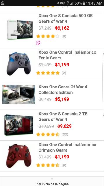 Liverpool: control Xbox One edición Gears of War en azul y rojo.