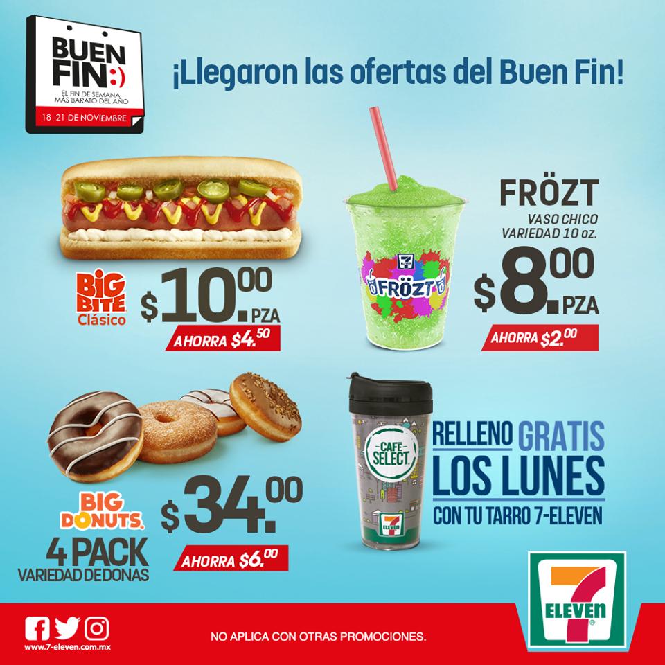 El Buen Fin 2016 en 7 Eleven: Big Bite $10 y más