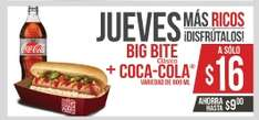 7 Eleven: Un TenTemPie, jueves Big Bite + Coca Cola de 600ml por $16