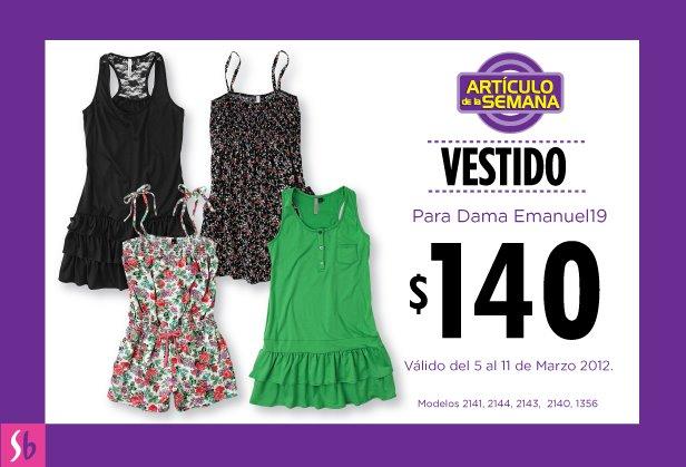 Artículo de la semana en Suburbia: vestido para dama Emanuel19 a $140