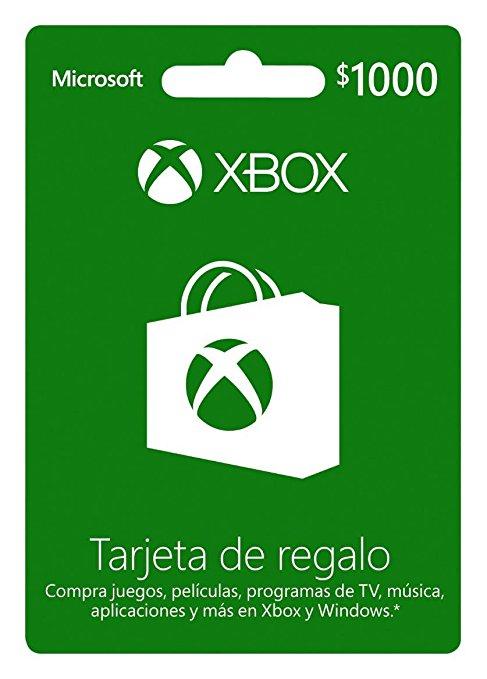 Amazon y Liverpool: Tarjetas de regalo Xbox Live 20% de descuento. Live Gold 12 meses $639