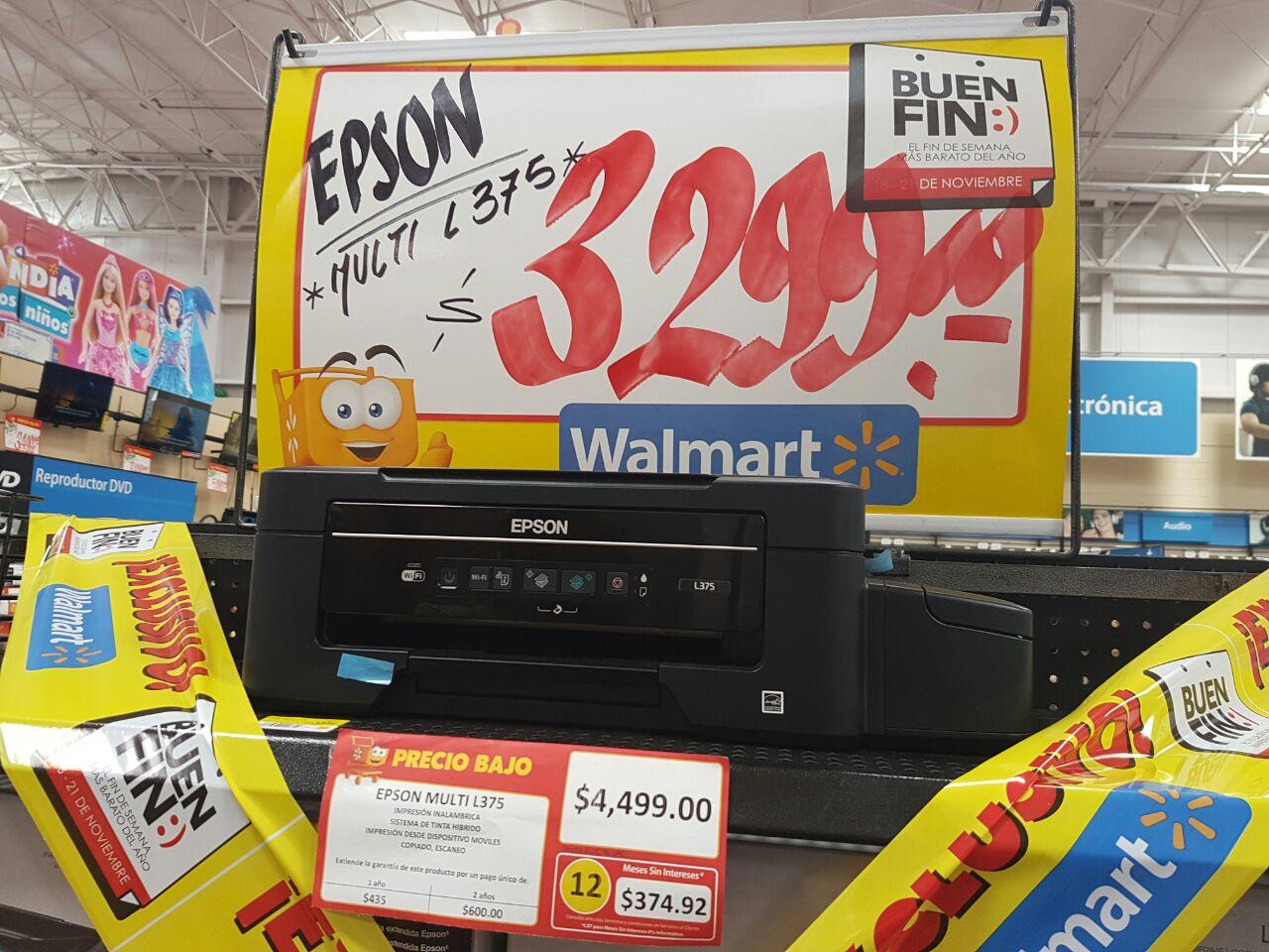 Walmart Coatzacoalcos: Epson L375 en promocion por el buen fin