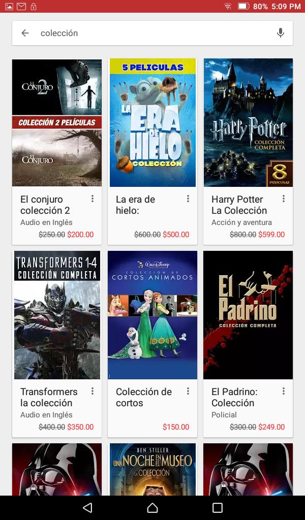 Promoción del Buen Fin 2016 en Google Play: tu próxima peli a mitad de precio